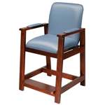 Deluxe Hip-High Chair, Wood Frame