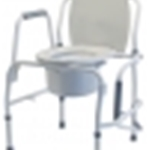 Lumex Silver Collection Steel Drop Arm 3-in-1 Commode CS/2