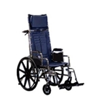 Wheelchair Reclining 22X18 with desk arms and ELR
