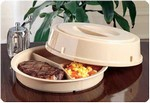 Three-Compartment Scoop Dish