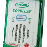 CordLess® Fall Monitor for use with CordLess Bed and Chair Sensor Pads and Floor Mats: with Safety Auto-Reset™ and Check Pad function