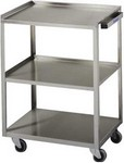 stainless steel three-shelf cart with handle 16