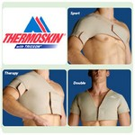thermoskin® shoulder supports single therapy - right, size xsmall, chest circ: 33