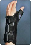 wrist brace with thumb spica wrist brace with thumb spica, left size: s