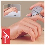 stainless-steel finger goniometers. short finger goniometer measures 3½