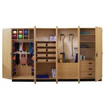 thera-wall™ therapy storage system - section 3 with accessories